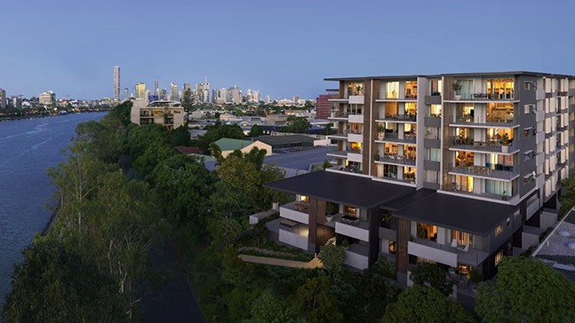 Sassari apartments overlooking the Brisbane River